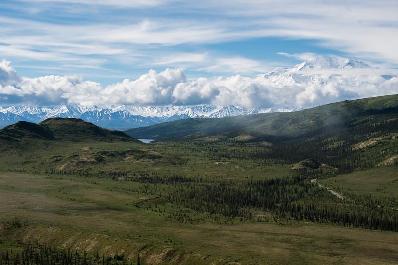 Denali and the Alaska Range,  Denali National Park   June 2017