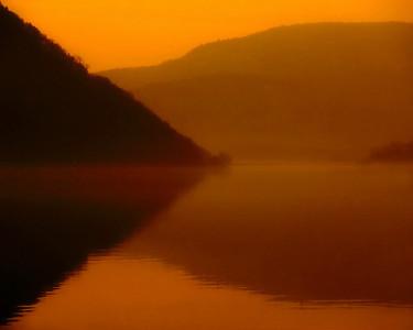 Dawn, Hudson River at Peekskill
