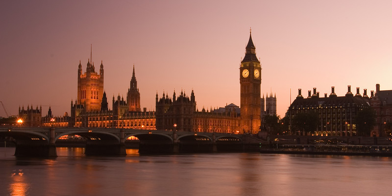 London, Houses of Parliament and St. James Tower