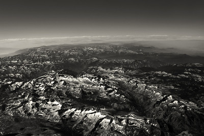 Sierras, 30,000 feet