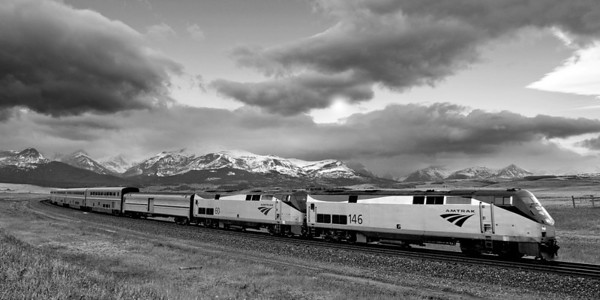 Eastbound Amtrak, Glacier National Park