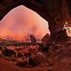 Sunset, Double Arch, Arches NP, Utah