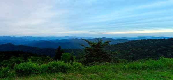 Panoramic view of Blue Ridge Mountains