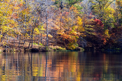 Picturesque fall lake