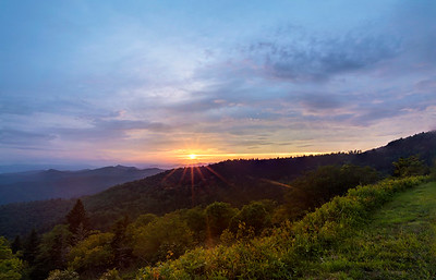 Cowee Overlook at Sunset