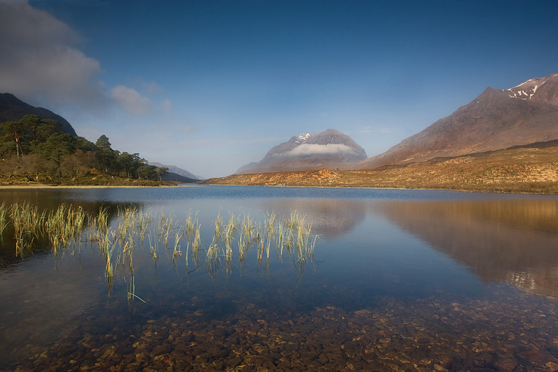 Liathach is the mountain with a cloud.