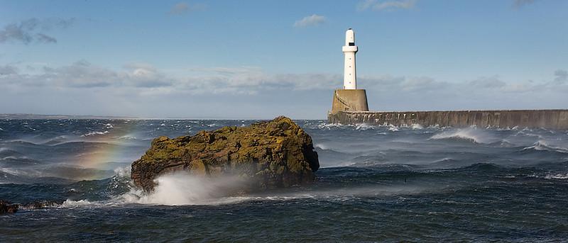 Aberdeen Harbour. Scotland.