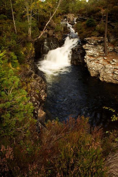 A waterfall at Braemar Aberdeenshire.