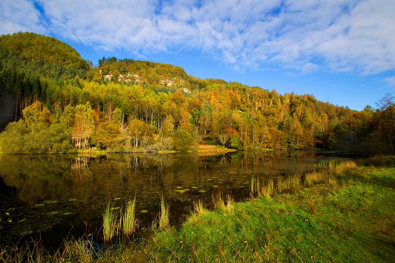 Lochan near Dunkeld Perthshire.