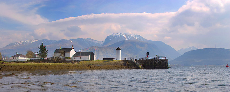 Ben Nevis in the background. Scotland.
