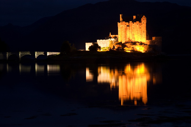 Eilean Donan Castle at night. John Chapman.