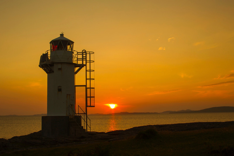 Rhue  Lighthouse at Sunset.