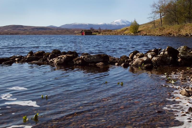 Loch Loyal with Ben Klibreck behind.