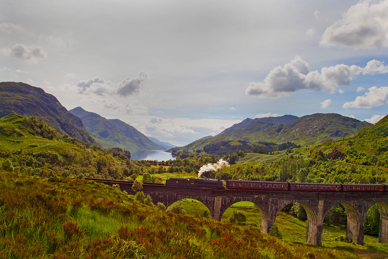 The Jacobite Train. Glenfinnan.
