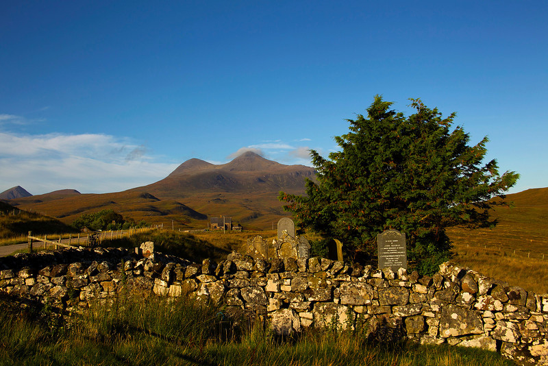 This must be one of the smallest Cemetery in Scotland.  Elphin Assynt Sutherland.
