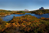 Assynt Sutherland with the mountains of Canisp and Suilven.