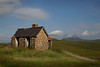 Old House at Assynt with the mountain Suilven behind.
