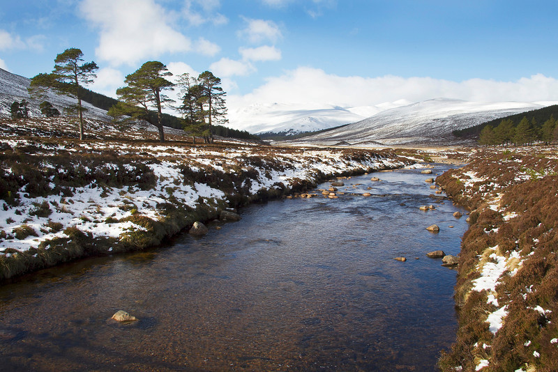 Glen Lui looking towards Derry Cairngorm. Picture accepted in the local Newspaper.