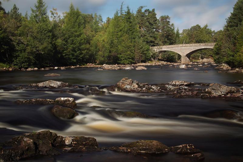 The Road Bridge at Invercauld. Aberdeenshire. Picture in the Local Newspaper. John Chapman.