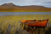 A fishing boat at Assynt Sutherland. Picture in the Local Newspaper. John Chapman.