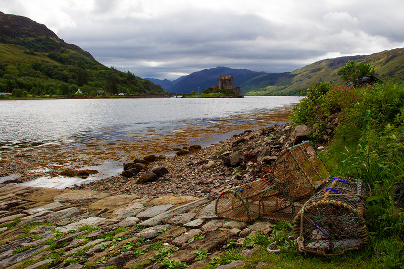Eilean Donan Castle and Lobster Pots. John Chapman.