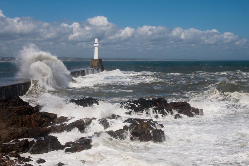 Bay of Nigg. Aberdeen. Scotland. Picture  in the Local Newspaper.