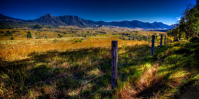 Rural Valley and the Mountainous Main Range National Park. ~WIDE VIEW~