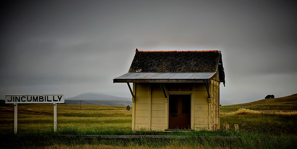 Now derelict, the Jincumbilly Train Station sits quietly on the alpine plains in Southern New South Wales Australia. ~WIDE VIEW~