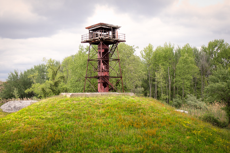 An Abandoned Watch Tower at For Mott - Pennsville, NJ