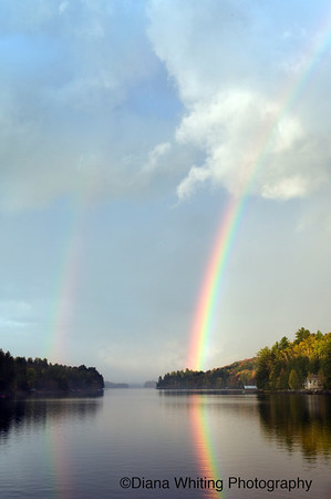 Long Lake Double Rainbow