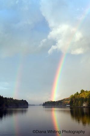 Long Lake Double Rainbow