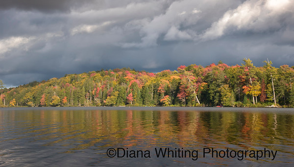 Storm Clouds and Fall Color Adirondack Lake_DEW6861 copy