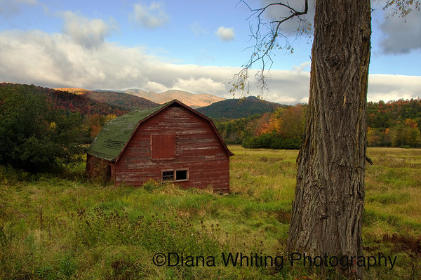 Keene Valley Barn Autumn
