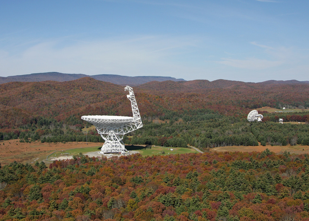 Greenbank Telescope; Greenbank, WV World largest fully steerable radio telescopes.