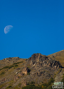 Setting Moon over Savage River