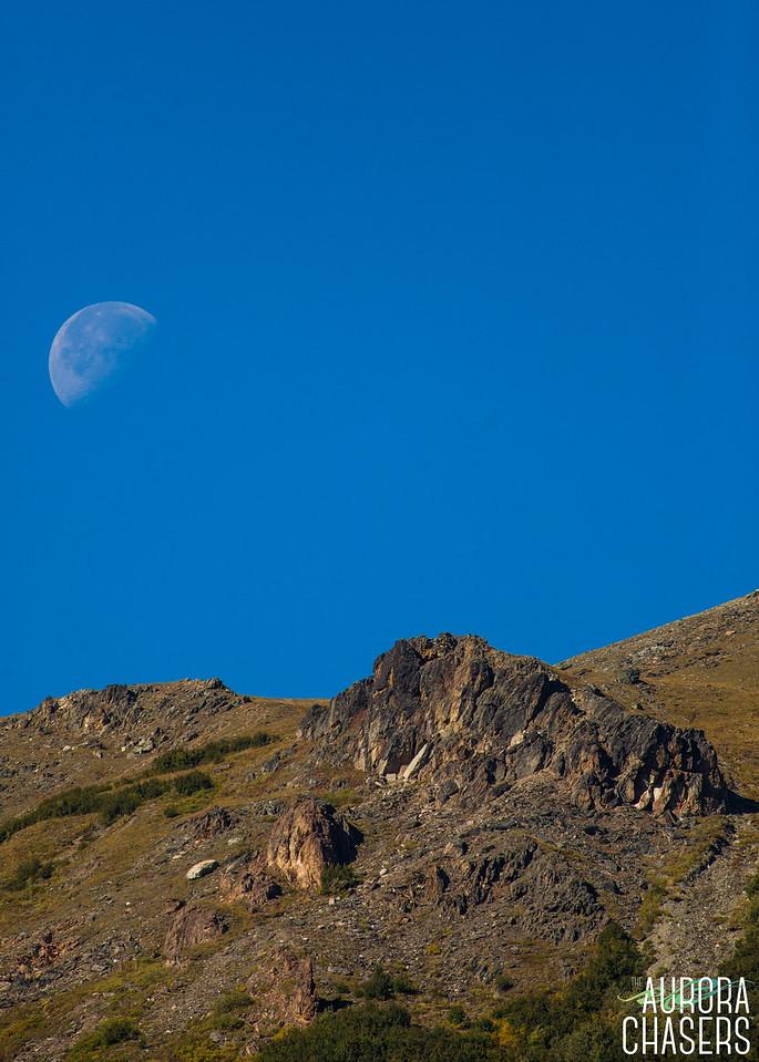 Setting Moon over Savage River