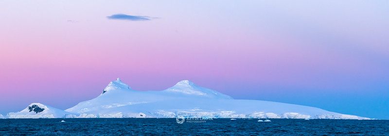 Magenta sunset in the Gerlache Strait