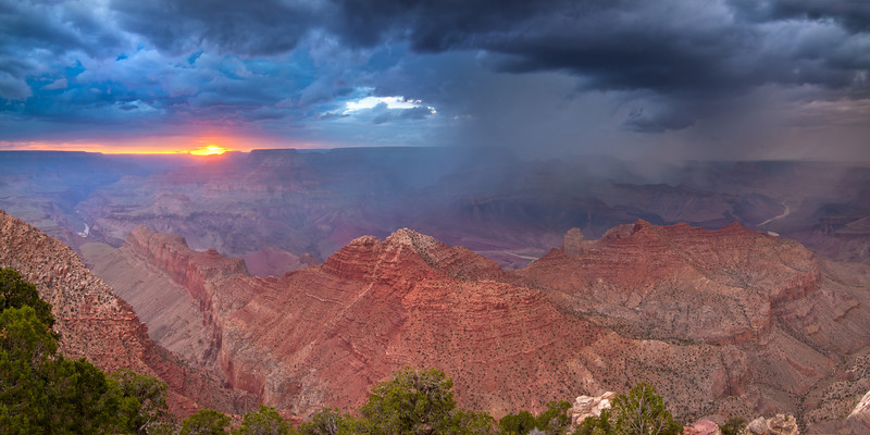 """Sunset Storm"" - Arizona, Grand Canyo National Park   Recommended Print sizes*:  4x8  