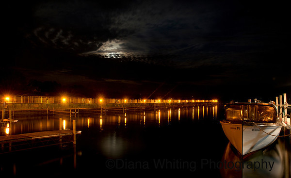 Skaneateles Mail Boat Evening