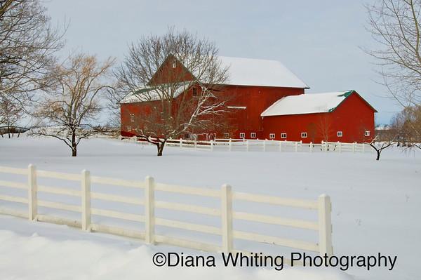 Red Barn Skaneateles Winter