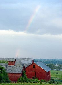 Skaneateles Barn With Rainbow