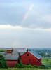 Skaneateles Barn With Rainbow