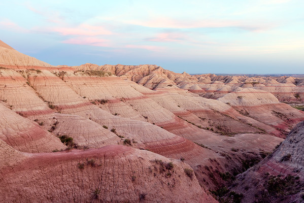 Pink Sunset in the Badlands