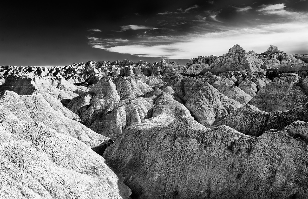 The Badlands in Infrared