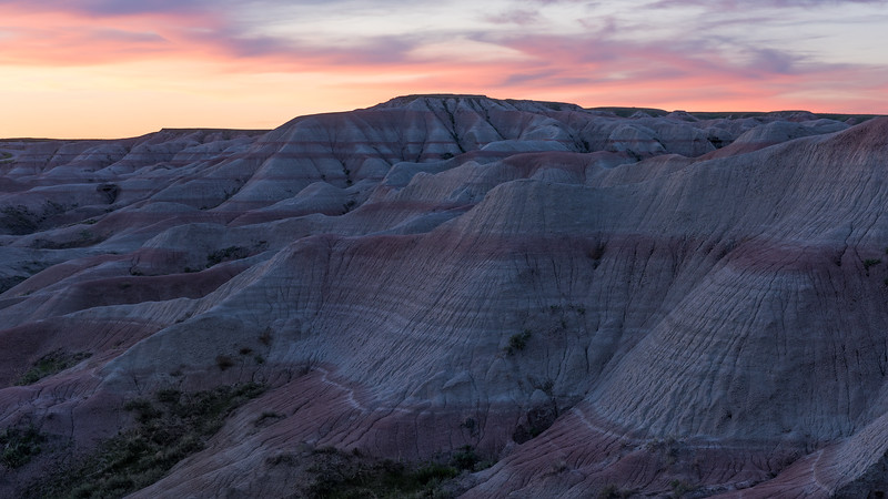 Purple Mountains Majesty: Sunset in the Badlands