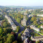 St Stephen's Church - Aerial Image of Bath, Somerset, UK