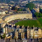 Royal Crescent -  Aerial Image of Bath, Somerset, UK
