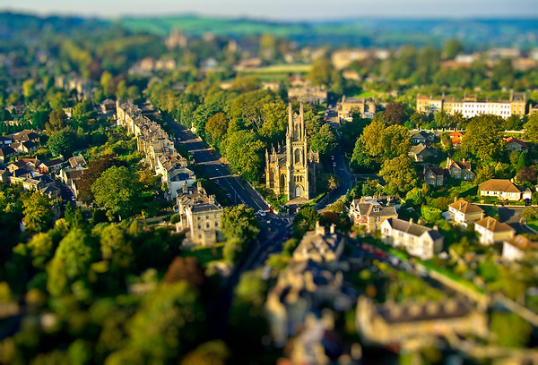 Aerial Views of Bath, Somerset, UK