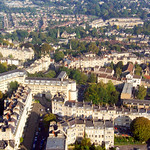 Aerial Image of Bath, Somerset, UK