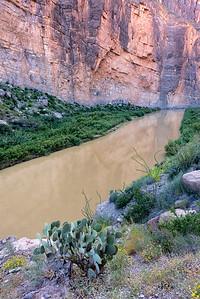 The Rio Grande cutting through Santa Elena Canyon